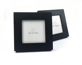 4x4 Picture Frame - Black - Frame for 4x4 Tiles, Instagram Prints or Needlework. Solid Wood Frame.