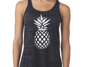 Pineapple tank top, pineapple shirt, custom shirt, gift idea