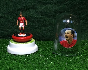 Zlatan Ibrahimovic (Manchester United)  - Hand-painted Subbuteo figure housed in plastic dome.