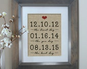 Wedding Gift, Burlap Personalized Wedding Gifts for Couple, Bridal Shower Gift, Husband Gift, Anniversary Gifts for Men, Gift for husband