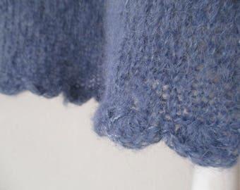 Knit skirt jeans blue Gr.M