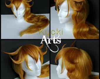 Custom Made to Order Princess Peach Cosplay Wig styled cosplay heat resistant costume mario luigi toadstool daisy rosalina commission