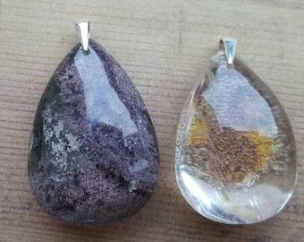 Shaman Stone - Lodolite / Garden Quartz Pendants in Sterling Silver