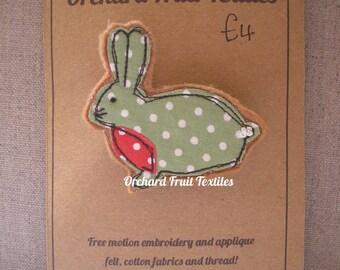 Rabbit Brooch Pin