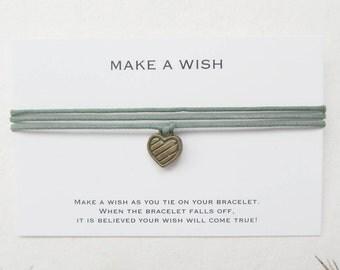 Make a wish bracelet, wish bracelet, heart bracelet, love bracelet, W18