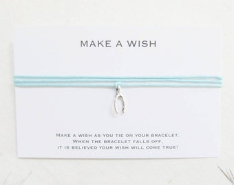 Wish bracelet, make a wish bracelet, wishbone bracelet, W09