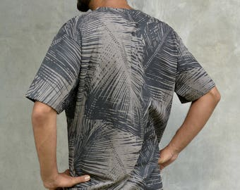 TSHIRT TROPICAL all over geometric pattern limited edition print