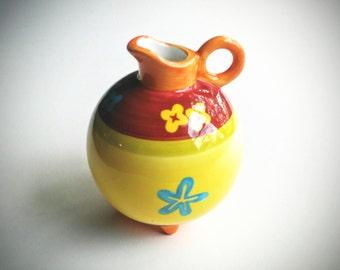 Bud Vase - Hand Painted Vase - Art Deco Vase - Collectible Vase - Flower Vase - Small Ceramic Vase - Vintage Vase - Pottery Vase -Round Vase