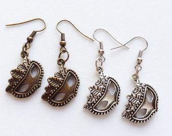 CARNIVAL MASK Earrings Carnival Earrings Carnival Jewelry Carnival Gift Carnival Of Venice Gift Mask Jewelry Mask Earrings Small Mask Charm