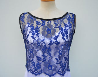 Top royal lace cropped top royal lace cocktail