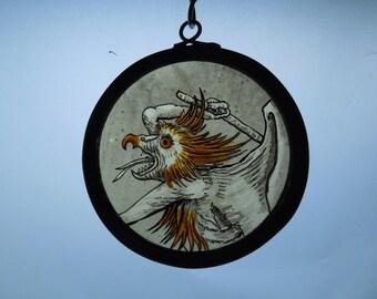 Medieval,Style,Handmade, Demon, Devil, Horror, Occult, Stained Glass Suncatcher