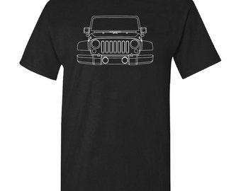 Jeep Wrangler Custom Off Road 4WD Screen Printed T-Shirt