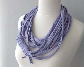 Lilac Cotton Jersey Scarf, layered scarf, infinity scarf