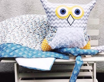 Custom stuffed owl plush kid toy cushion