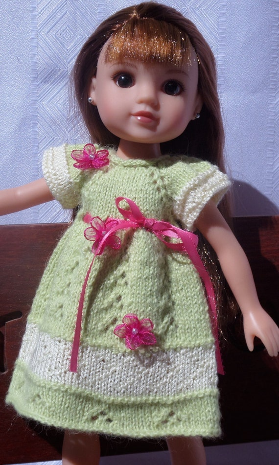 Knitting Patterns For 13 Inch Dolls : Knitting Pattern (PDF download) 13 inch dolls, Les Cheries ...
