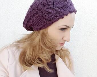 Slouchy beanie,  Womens slouch hat, Beanie winter hat, Crochet Beanie hat, . Womens accessories hat, Beanie wool, Beret beanie