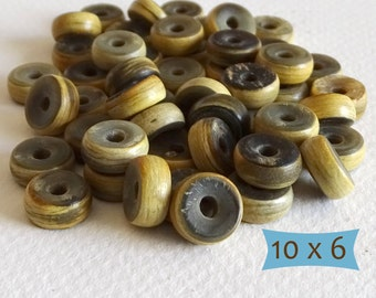 Natural Horn Ring Spacer Beads--10 Pcs | 20-HN101-10