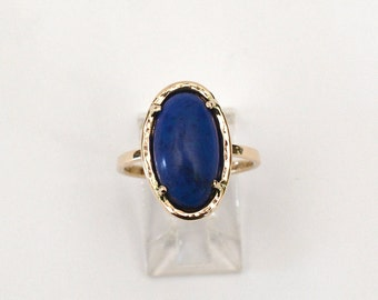 Lapis Ring 14kt Yellow Gold