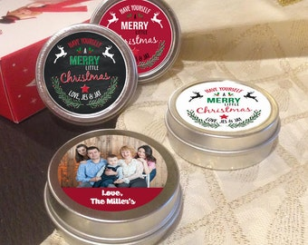 12 Personalized Christmas Mint Tins Favors - Have yourself a merry little christmas - Christmas Decor - Stocking Stuffers - Christmas Mints