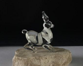 Handblown Glass Rabbit Sculpture