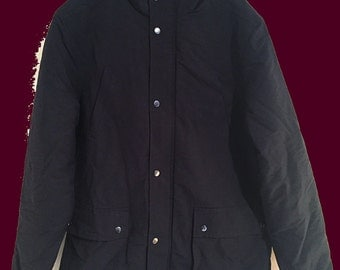 Quilted Short Navy Parka Coat // Brand New One Off Sample // Reduced Sale Price