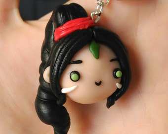 Nidalee Necklace or Keychain League of Legends  Gamer Kawaii Geek videogames