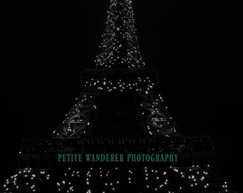 Eiffel Tower Lights, Eiffel Tower Night Photography, Paris, France, Paris Wall Art, Paris Wall Decor, Travel Landscape, Home Decor