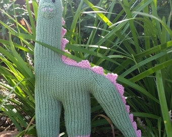 Hand Knitted Dino the Dinosaur