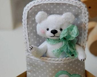 "Little plush bear, 4,7"",10 cm, pocket size, miniature bear, artist bears, plush toy, teddy bear, play set, small plush bear, pocket bear"