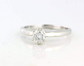 SUPER SALE .48ct Diamond Solitaire in the Classic 6 Prong Tiffany Setting 14k white gold - DIAR10134
