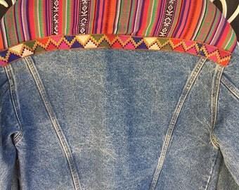 FANDANGO Embellished Denim Jacket - Ladies Size 16/ Mens Size Med/Large
