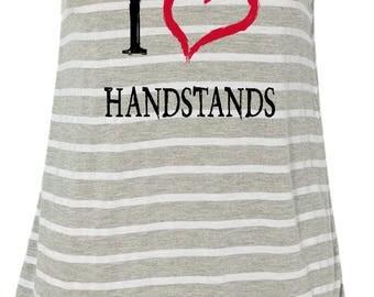 I Love Handstands Ladies Flowy Racerback Tank Top ILOVEH-8800