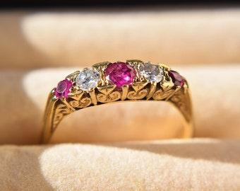 1930s 18ct Ruby & Diamond Ring