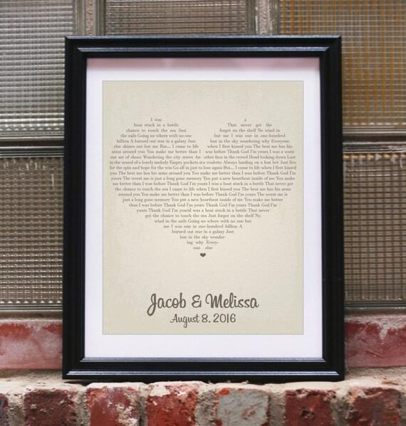paroles de chansons de cadeau de mariage personnalis cadeaux de mariage pour mariage unique couple promet art song lyrics impression coeur personnalis - Chanson Personnalise Pour Mariage