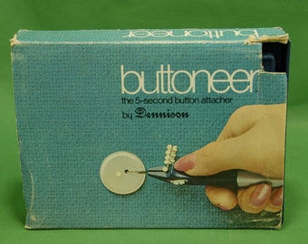 Vtg Dennison  Ronco Buttoneer PACKAGING ONLY Original Box Instructions Attacher NOT included