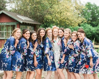 Set of 7 Bridesmaid Robes, Wedding Robe, Will You Be My Bridesmaid, Kimono Robe, Fast Shipping from New York, Regular and Plus Size Robe