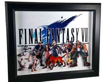 Final Fantasy VII (PS1) Heroes Shadow Box
