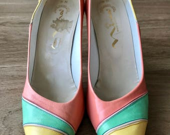 Multicolored Nina pumps size 9N