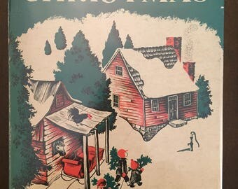 American Folk Songs for Christmas, 1953 vintage music book