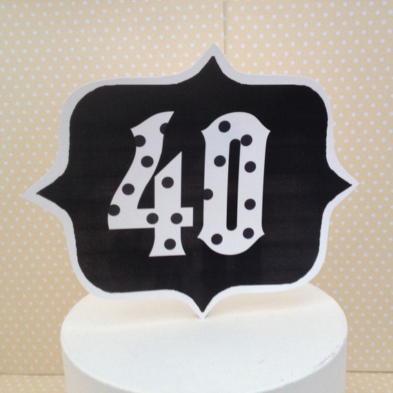 40th 50th 60th 70th Birthday Party Cake Decoration By