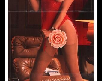 "Mature Playboy May 1980 : Playmate Centerfold Martha Elizabeth Thomsen Gatefold 3 Page Spread Photo Wall Art Decor 11"" x 23"""