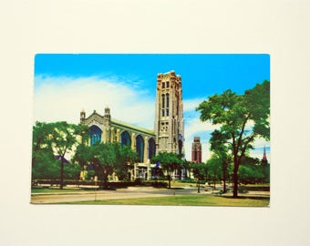 Rockefeller Chapel Chicago Illinois Postcard / Chicago Postcard / University Postcard