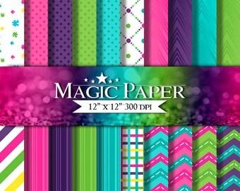 50% OFF SALE Shop Market Digital Paper - Printable Paper- Digital Scrapbooking- Instant Download