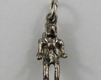 Astronaut Sterling Silver Vintage Charm For Bracelet