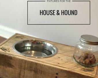 Custom Wooden Dog Bowl