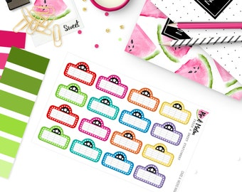 CA92 | Marquee Movie Night Event Stickers  | 16 Kiss-Cut Stickers | 1.5 INCH WIDE