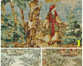 Window curtains toile window panels toile window curtains drapes custom curtains vintage curtains vintage home decor Tuscan curtains