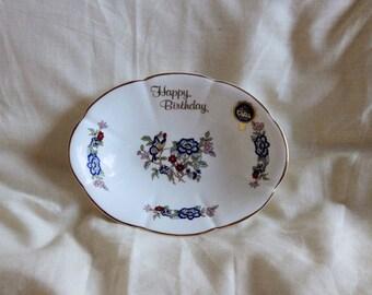 Happy Birthday Dish by Royal Tara, Ireland