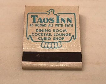 Taos Inn New Mexico 20 Strike Matchbook Complete With Matches NM Front Strike