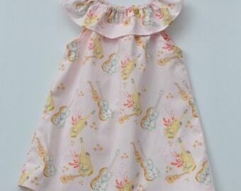 Seaside Ruffle Neck Dress